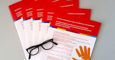 """Orientierungshilfe für Geflüchtete zu """"Gleichberechtigung von Menschen verschiedenen Geschlechts bzw. verschiedener sexueller Identität"""""""