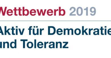 Logo Aktiv für Demokratie und Toleranz 2019 © BfDT