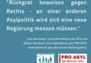 PRO ASYL und SFR: Rückgrat beweisen gegen Rechts!