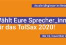 Noch bis 30.11   Wählt den Sprecher_innenrat des Tolsax 2020!