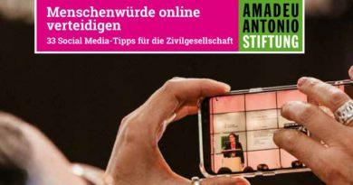 Menschenwürde online verteidigen. 33 Social Media-Tipps für die Zivilgesellschaft