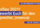 An die Mitglieder: Bewerbt Euch für den Sprecher_innenrat 2021!