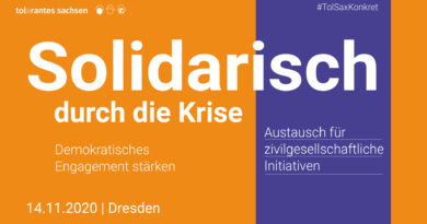 14.11.2020   TolSax Konkret   Solidarisch durch die Krise – Demokratisches Engagement stärken   Dresden