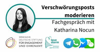 Verschwörungsposts moderieren – Fachgespräch mit Katharina Nocun