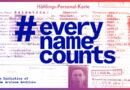 #everynamecounts: Baut mit uns ein digitales Denkmal