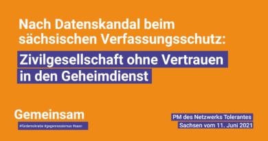 Nach Datenskandal beim sächsischen Verfassungsschutz: Zivilgesellschaft ohne Vertrauen in den Geheimdienst