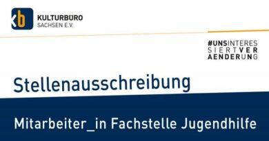 26.08. | Mitarbeiter*in für die Fachstelle Jugendhilfe | Dresden oder Leipzig